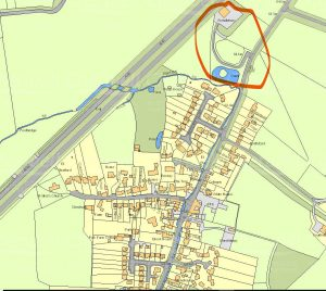 Map of wider view of village