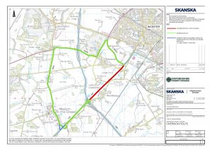 A41 Road Closure map June 19
