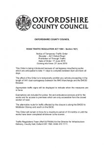 Road Closure Information Notice