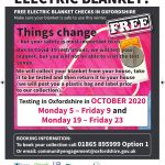 Electric blanket Flyer Sept20
